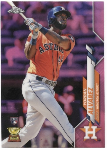 Photo of 2020 Topps Chrome Pink Refractors #200 Yordan Alvarez