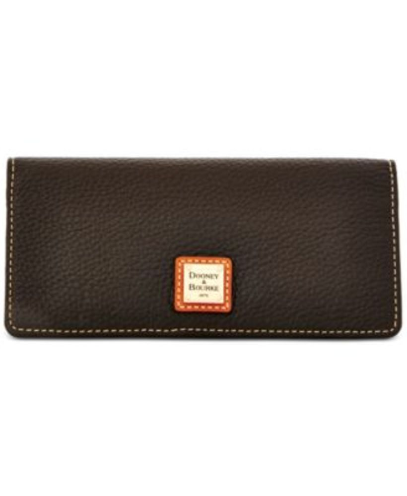 Photo of Dooney & Bourke Pebble Leather Slim Snap Clutch Wallet
