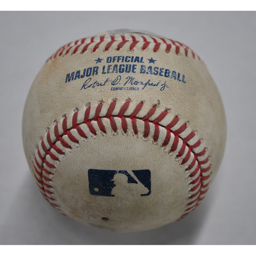 Photo of Game-Used Baseball - MIN vs. PIT - 8/6/2020 - Pitcher - JT Brubaker - Batter - Jorge Polanco, Top 3, Single
