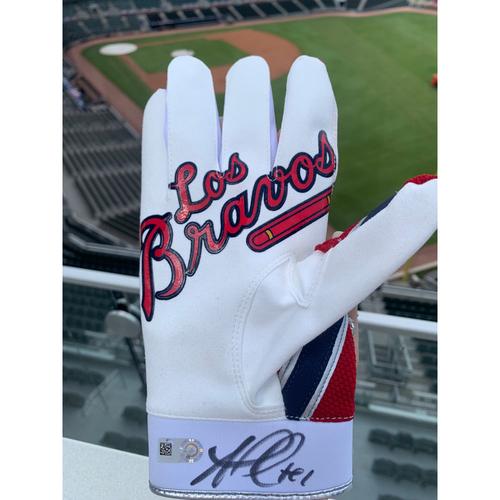 Photo of Ozzie Albies MLB Authenticated Autographed Los Bravos Batting Glove