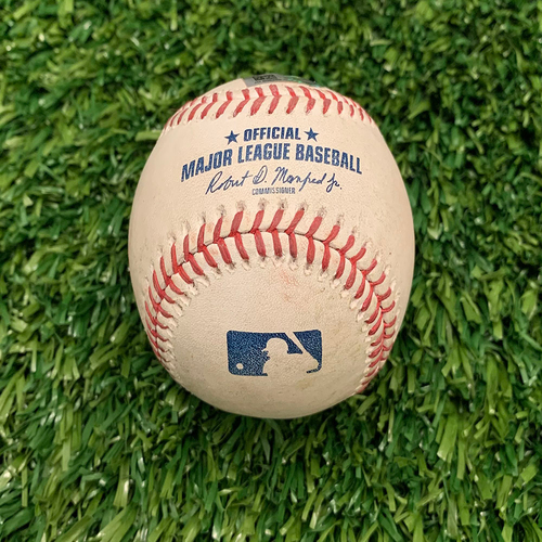Photo of Minnesota Twins: 2021 Game-used Baseball - P: Bailey Ober, H: Shohei Ohtani Singles on a Ground ball to 2B Nick Gordon Top 1 - 7/25/2021 vs Los Angeles Angels