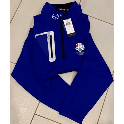 Photo of UMPS CARE AUCTION: 2020 Ryder Cup Whistling Straits Ralph Lauren Quarter-Zip Blue Jacket, Size XL