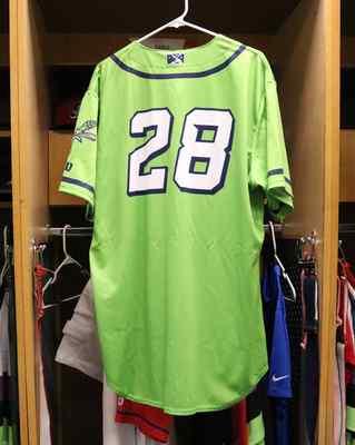 Stockton Ports Craig Conklin Asparagus jersey, #28, Size 48