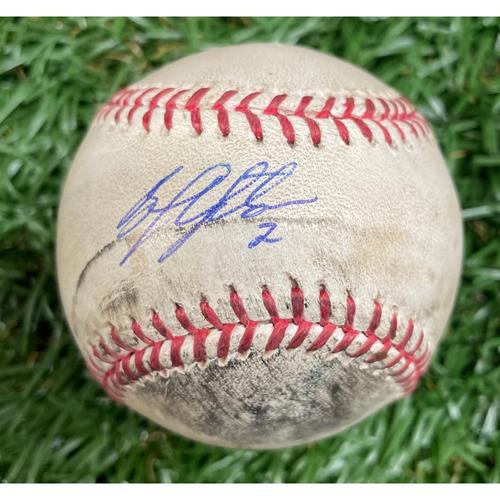 Photo of Game Used ALCS Game #6 Baseball: B.J. Upton - October 18, 2008 v BOS