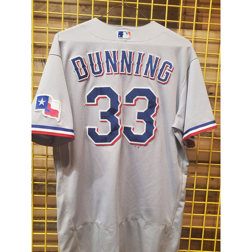 Photo of Dane Dunning Team-Issued Grey Jersey