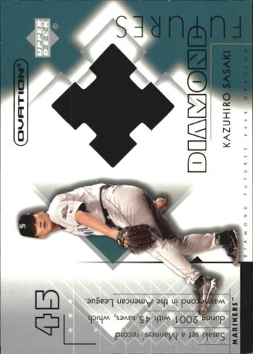 Photo of 2002 Upper Deck Ovation Diamond Futures Jerseys #DFKS Kazuhiro Sasaki