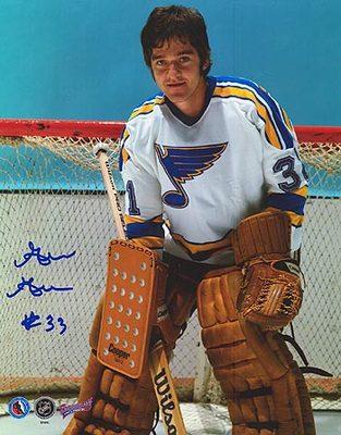 GILLES GRATTON St. Louis Blues SIGNED 8x10 Photo