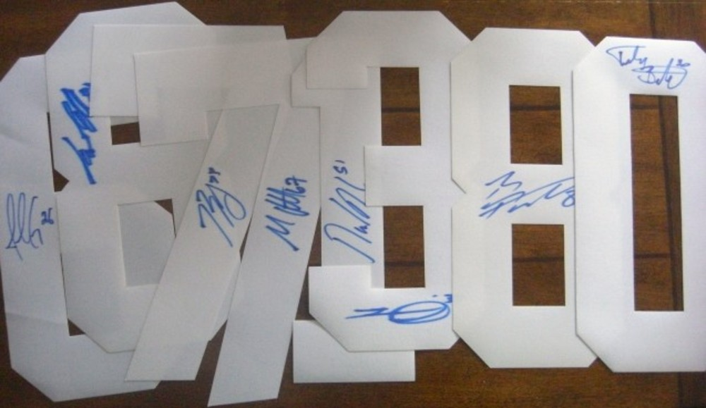 Montreal Canadiens 8-Piece Signed White number FAN PACK. Gallagher, Pacioretty, Prust Eller and MORE!