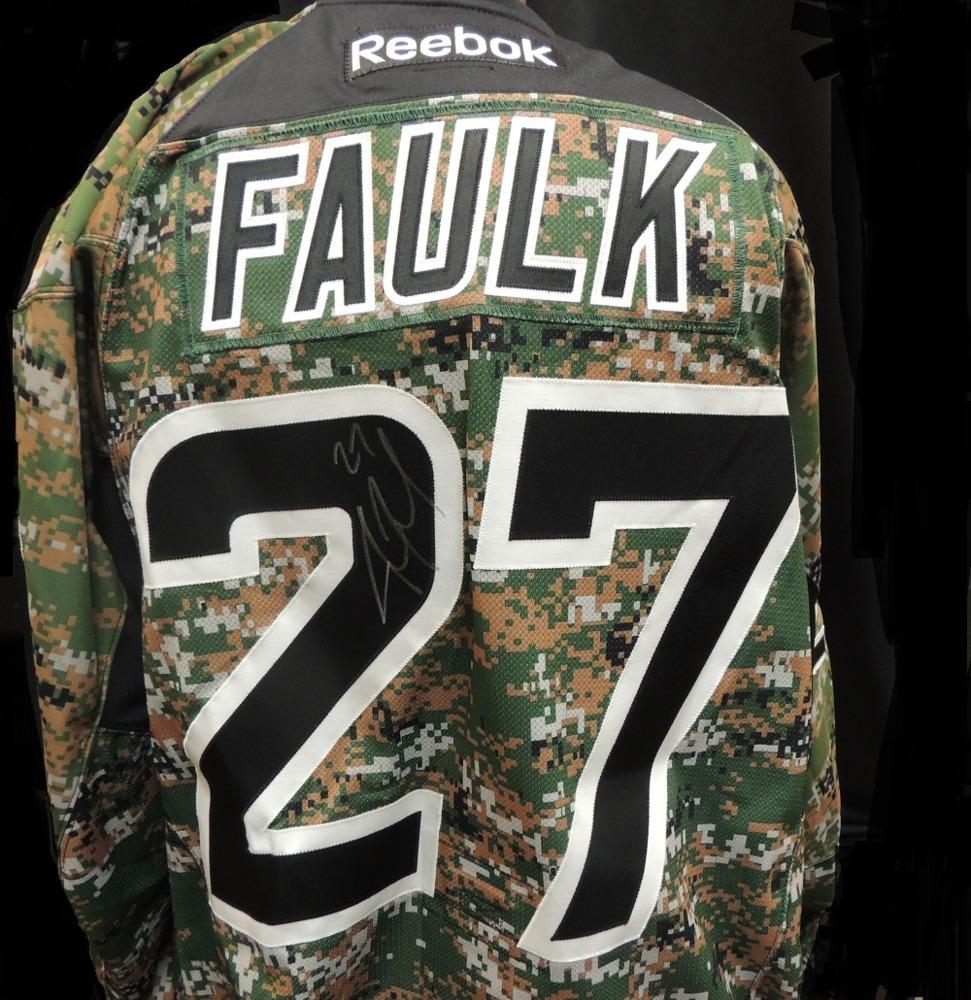 Carolina Hurricanes Justin Faulk #27 Military Appreciation Jersey