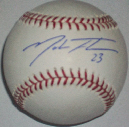 Photo of Mark Teahen Autographed Baseball