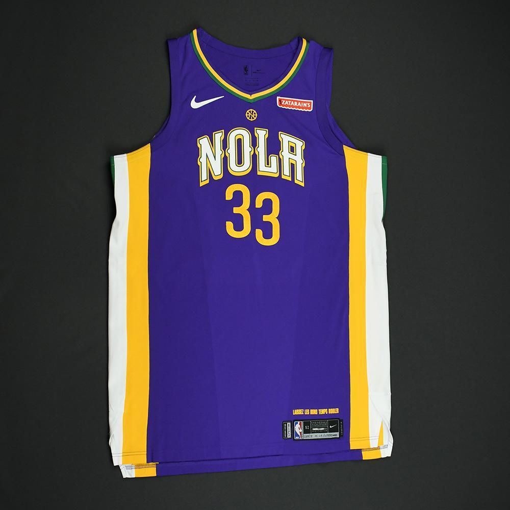 Dante Cunningham - New Orleans Pelicans - Game-Worn 'City' Jersey - 2017-18 Season