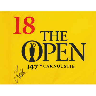 Photo of Sandy Lyle, The 147th Open Carnoustie Autographed Souvenir Pin Flag