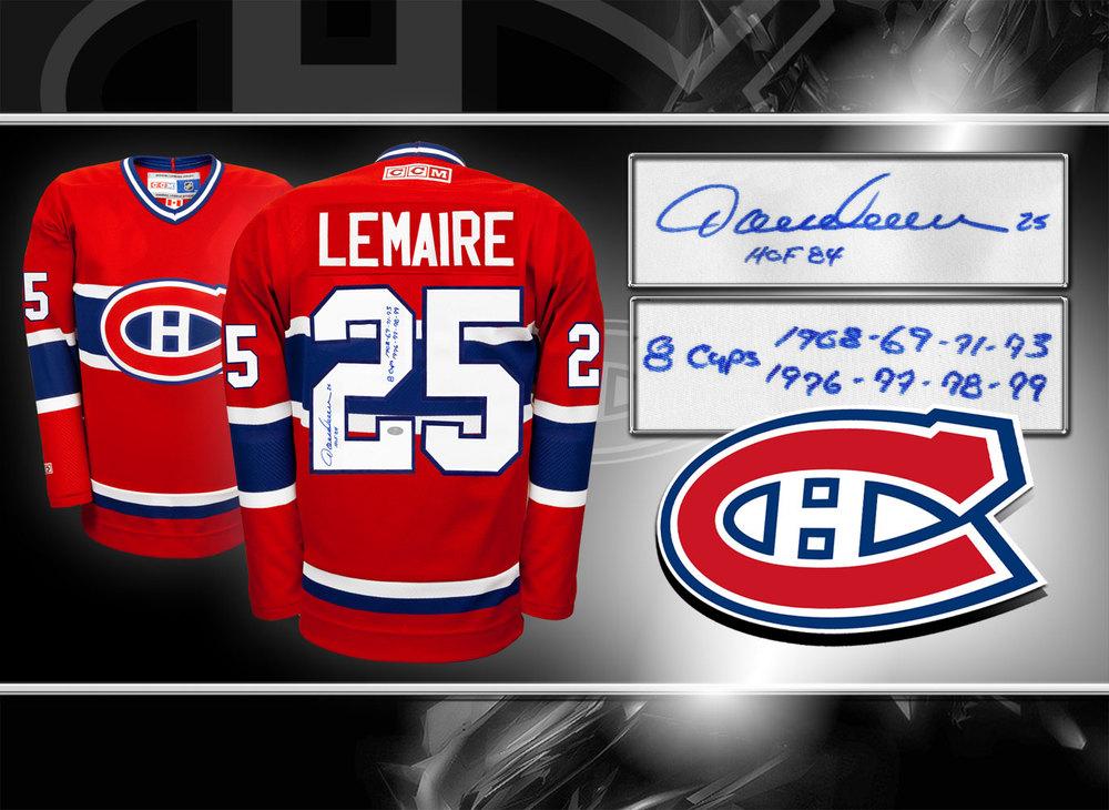 Jacques Lemaire Montreal Canadiens HOF CCM Autographed Jersey