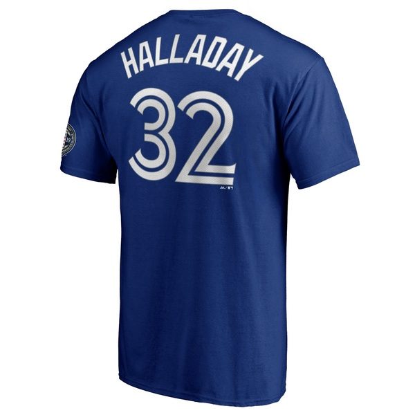 Toronto Blue Jays Roy Halladay Hall of Fame Player T-Shirt by Majestic