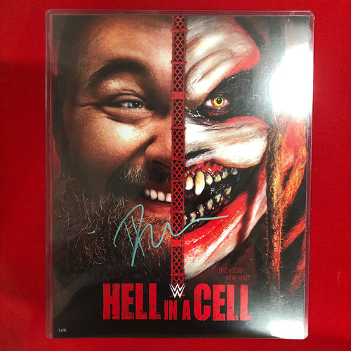 Photo of Bray Wyatt SIGNED Hell In A Cell 2019 11x14 Poster Card
