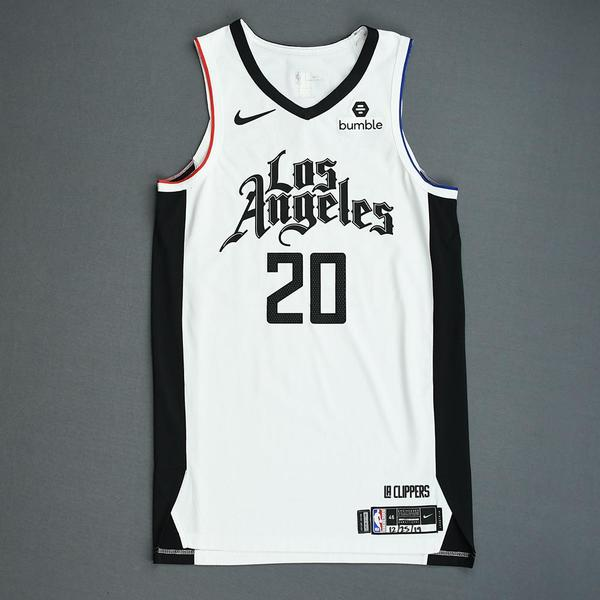 Image of Landry Shamet - Los Angeles Clippers - Christmas Day' 19 - Game-Worn City Edition Jersey - Worn 2 Games