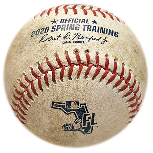 Photo of Game Used Baseball - 2020 Spring Training - Mets vs. Cardinals - 2/23/20