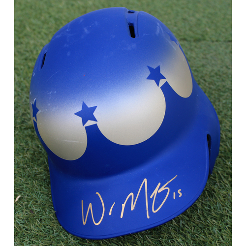 Photo of Team-Issued and Autographed Helmet: Whit Merrifield (Size 7 1/4)