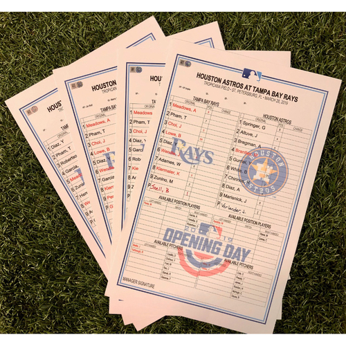 Photo of Opening Series Replica Lineup Card Package: March 28-31, 2019 v HOU