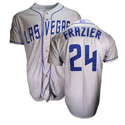 Photo of Todd Frazier #24 Las Vegas 51s 2018 Road Jersey