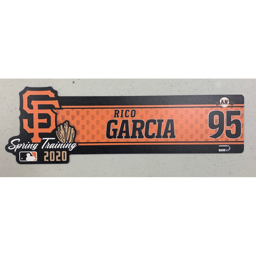 Photo of 2020 Spring Training Locker Tag - #95 Rico Garcia