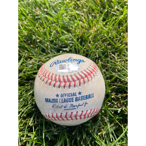 Photo of Cardinals Authentics: Game Used Baseball Pitched by Carlos Martinez to Brian Goodwin *Home Run*