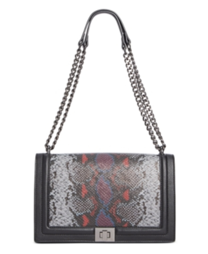 Photo of Inc Ajae Snake Print Flap Crossbody