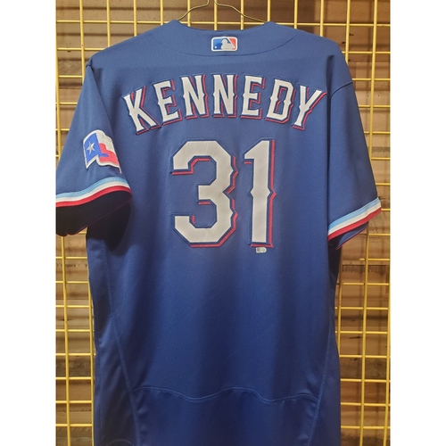 Photo of Ian Kennedy Game-Used Royal Blue Jersey - 7/23/21