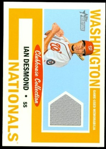 Photo of 2013 Topps Heritage Clubhouse Collection Relics #ID Ian Desmond