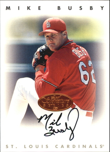 Photo of 1996 Leaf Signature Autographs #38 Mike Busby