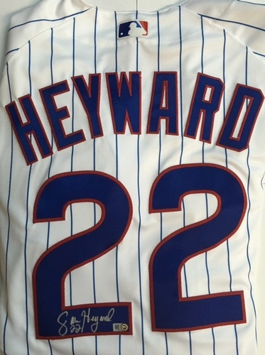 Photo of Jason Heyward Autographed White Authentic Cubs Jersey