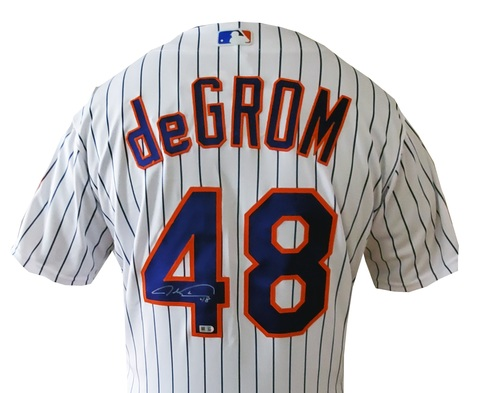 Photo of Jacob DeGrom Autographed Mets Authentic Jersey