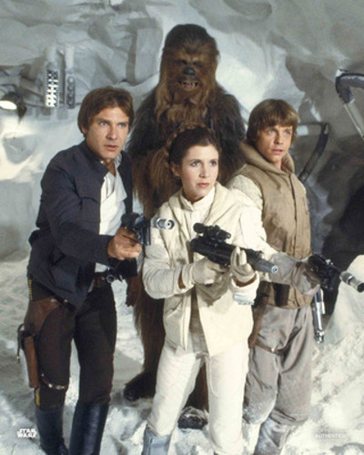 Han Solo, Chewbacca, Princess Leia Organa and Luke Skywalker
