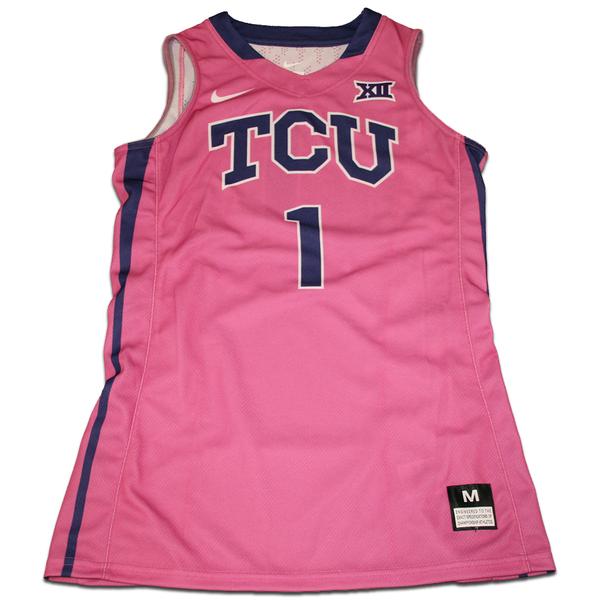 Photo of Women's Basketball Pink Game Worn Nike® Jersey #1 (M)