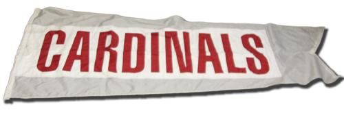 Wrigley Field Collection -- Scoreboard Flag -- Cardinals
