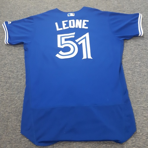 Authenticated Game Used Jersey - #51 Dominic Leone (April 3, 2017: Opening Day). Size 48.