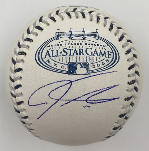 Photo of Josh Hamilton Autographed 2008 All-Star Game Logo Baseball