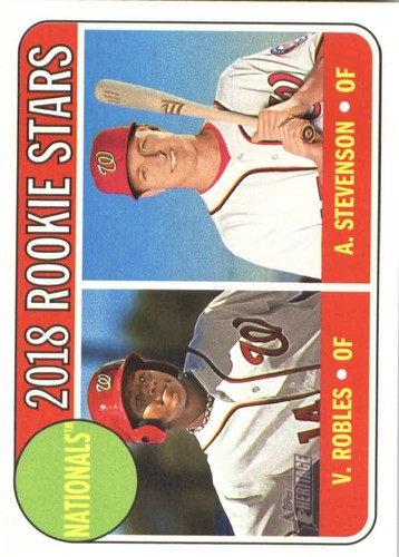 Photo of 2018 Topps Heritage #284 Victor Robles RC/Andrew Stevenson RC