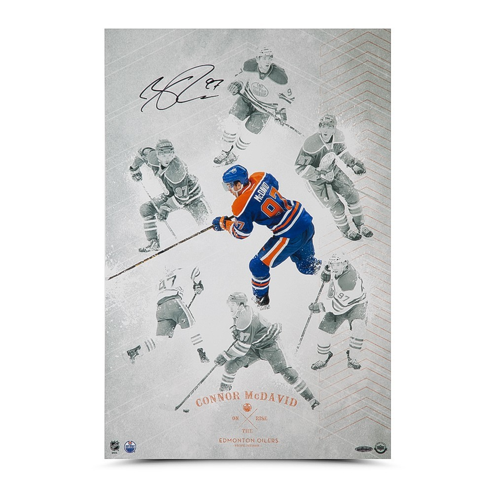 Connor McDavid Autographed Edmonton Oilers 16X24 Photo - UD Authenticated