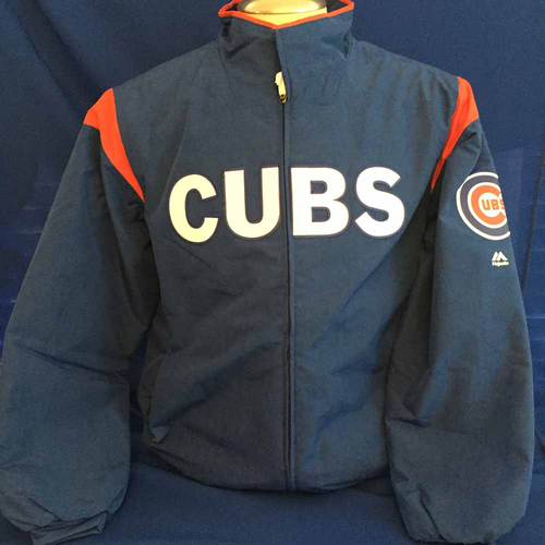 Photo of UMPS CARE AUCTION: Chicago Cubs Thermabase Majestic Jacket, Size X-Large