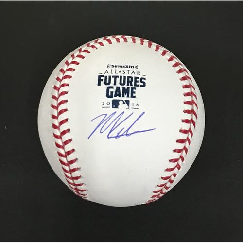 Photo of Mitch Keller Autographed 2018 Futures Game Baseball - Team USA Starting Pitcher
