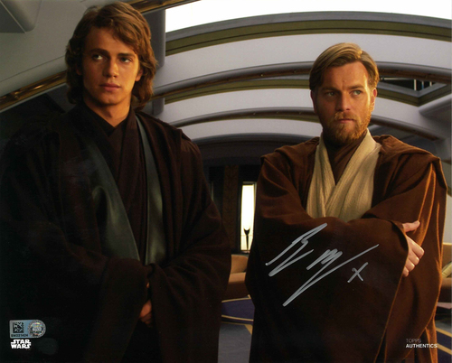 Ewan McGregor As Obi-Wan Kenobi  8X10 AUTOGRAPHED IN 'SILVER' INK PHOTO