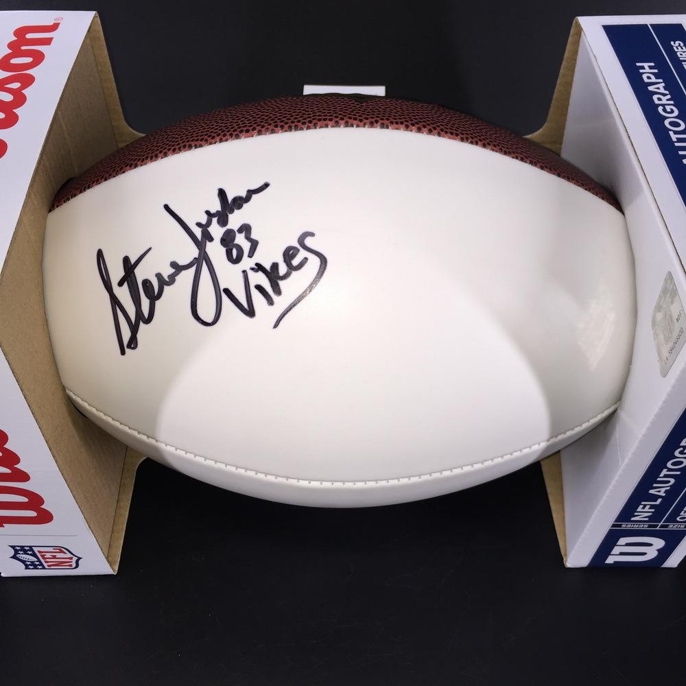 NFL - Vikings Steve Jordan Signed Panel Ball