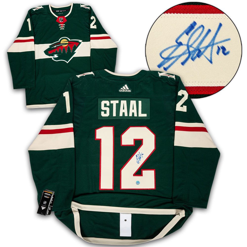 Eric Staal Minnesota Wild Autographed Adidas Authentic Hockey Jersey