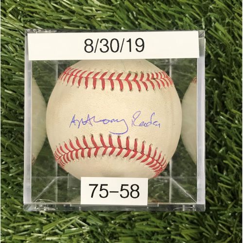 Photo of Win #75: 8/30/2019 Game-Used Baseball - Player Signature is NOT MLB Authenticated