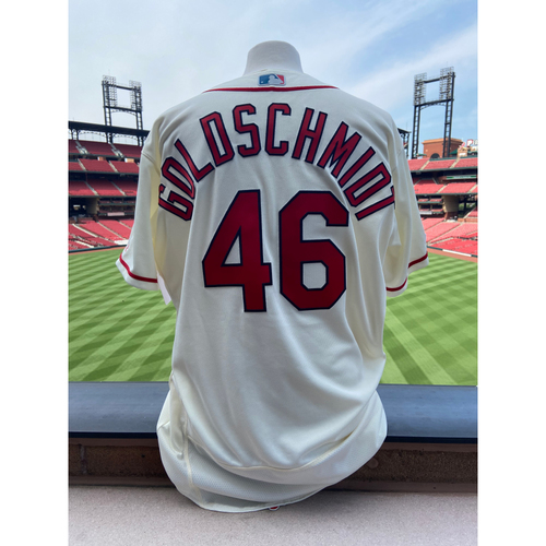 Photo of Cardinals Authentics: Team Issued Paul Goldschmidt Alternate Ivory Jersey