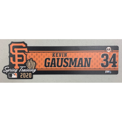Photo of 2020 Spring Training Locker Tag - #34 Kevin Gausman