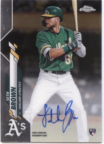 Photo of 2020 Topps Chrome Rookie Autographs #RASB Seth Brown
