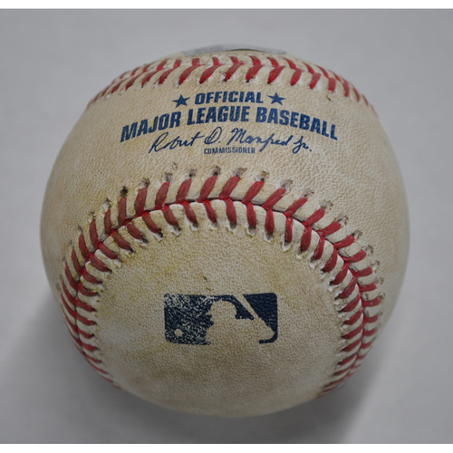 Photo of Game-Used Baseball - DET vs. PIT - 8/7/2020 - Pitcher - Miguel Del Pozo - Batter - Jeimer Candelario, Top 7, Single