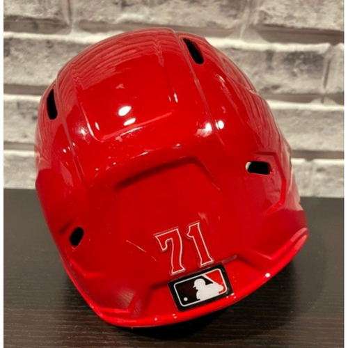Photo of Tyler Stephenson -- Team-Issued Helmet -- Right Ear Flap -- Size 7 1/4